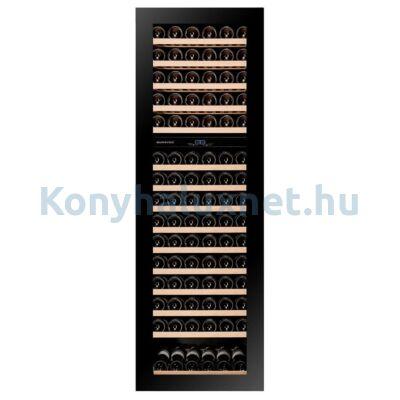Dunavox DAVG-114.288DB.TO Glance beépíthető borhűtő fekete 114 palackos