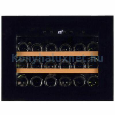 Dunavox DAVG-18.46B.TO Glance beépíthető borhűtő fekete 18 palackos