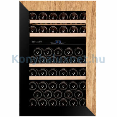 Dunavox DAVG-49.116DOP.TO Glance beépíthető borhűtő fekete/fa 49 palackos