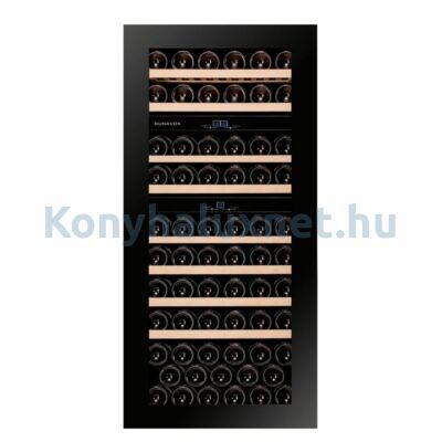 Dunavox DAVG-72.185DB.TO Glance beépíthető borhűtő fekete 72 palackos