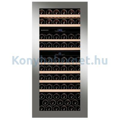 Dunavox DAVG-72.185DSS.TO Glance beépíthető borhűtő inox 72 palackos