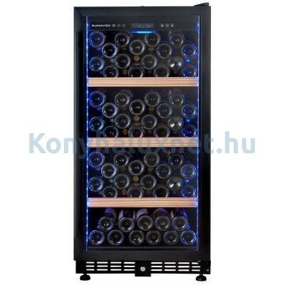 Dunavox DX-107.229K beépíthető borhűtő fekete 107 palackos
