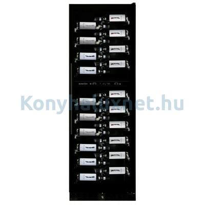 Dunavox DX-119.386DBK Grande beépíthető borhűtő fekete 119 palackos