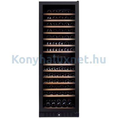 Dunavox DX-166.428DBK Grande beépíthető borhűtő 166 palackos