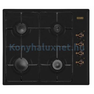 EVIDO RUSTIC-H 60A Beépíthető Gázfőzőlap Antracit