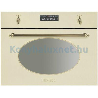 SMEG Beépíthető Mikrohullámú Sütő SC 845 MPO-9 Bézs