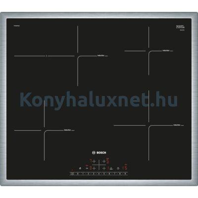 Bosch PIF645FB1E beépíthető indukciós főzőlap 60cm nemesacél keret Serie6
