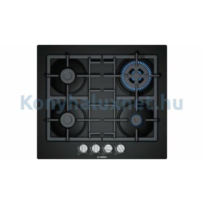 Bosch PNH6B6B90 beépíthető gázfőzőlap fekete üveglapon Serie4