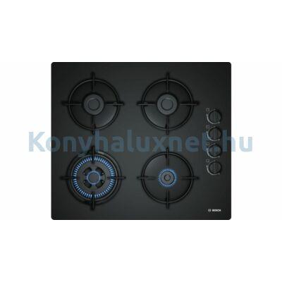 Bosch POH6B6B10 beépíthető gázfőzőlap fekete üveglapon Serie2