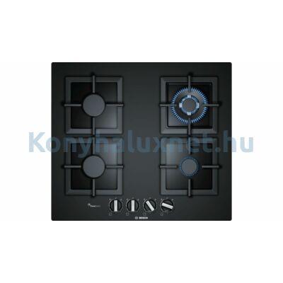 Bosch PPH6A6B20 beépíthető gázfőzőlap fekete üveglapon Serie6