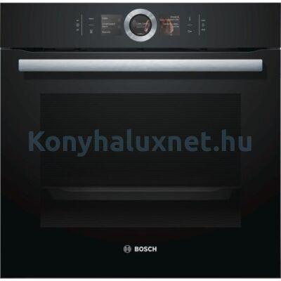 Bosch HBG676EB6 beépíthető sütő Home Connect pirolítikus öntisztítás fekete Serie8