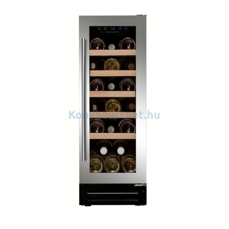 Dunavox DAUF-19.58SS beépíthető borhűtő inox 19 palackos