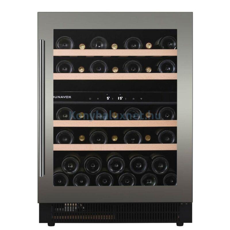 Dunavox DAUF-39.121DSS Soul beépíthető borhűtő inox 39 palackos