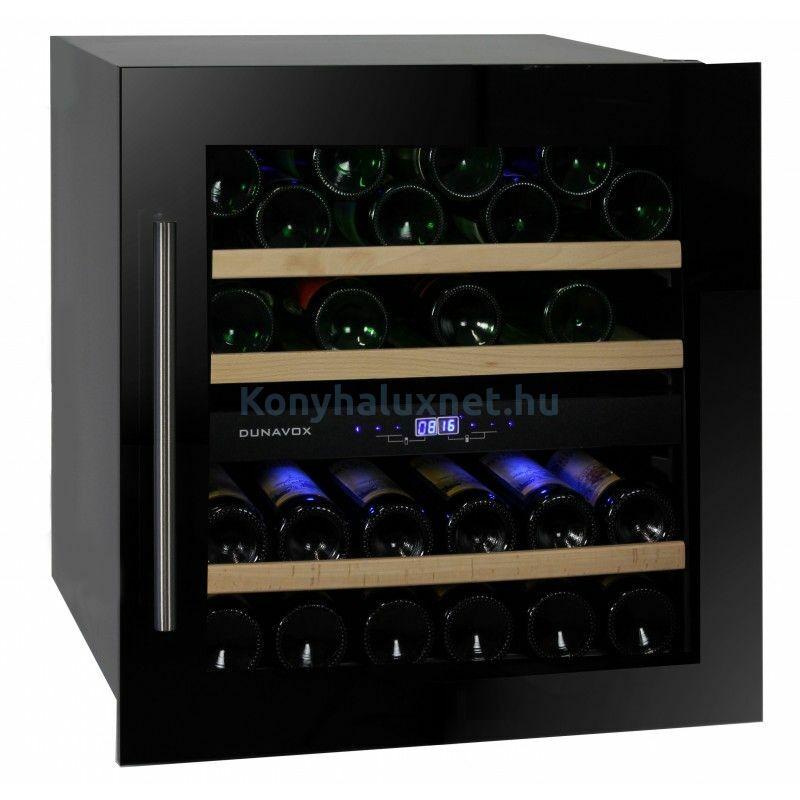 Dunavox DAVS-25.63DB Soul beépíthető borhűtő fekete 25 palackos