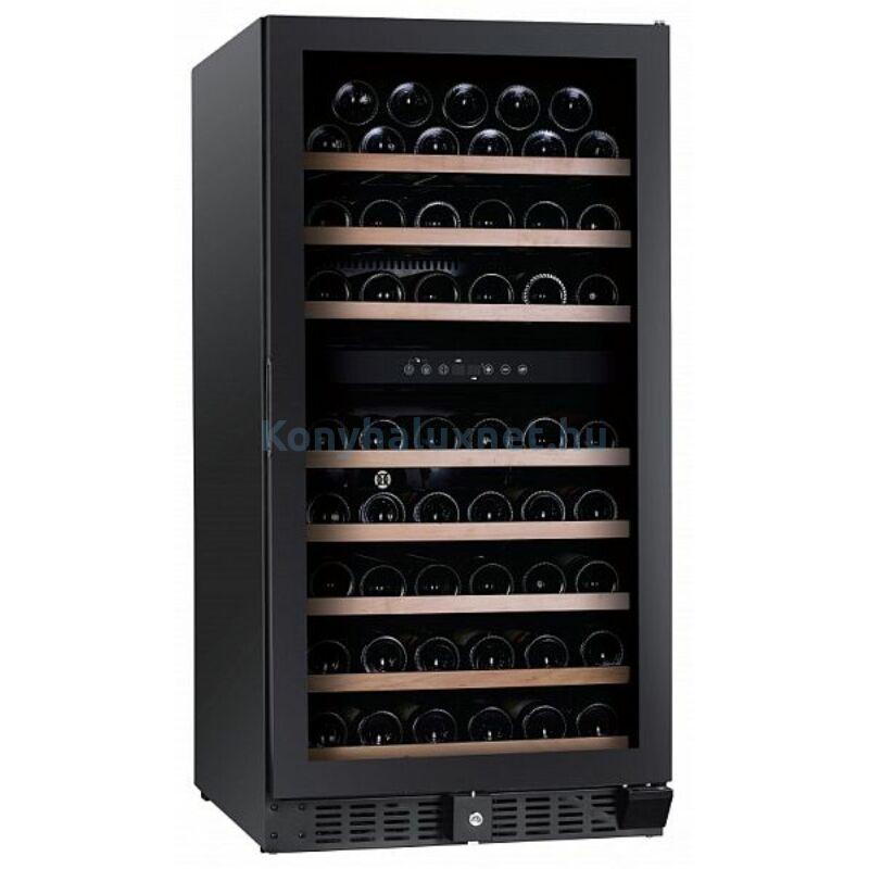 Dunavox DX-94.270DBK Grande beépíthető borhűtő fekete 94 palackos