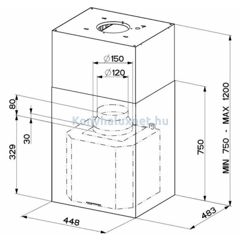 Faber Cubia Isola Plus X A60 Sziget Páraelszívó