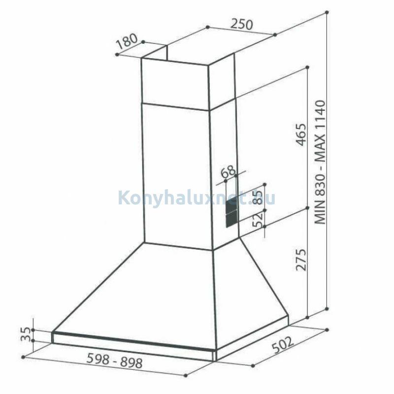 Faber Strip Smart PB X A90 Fali páraelszívó