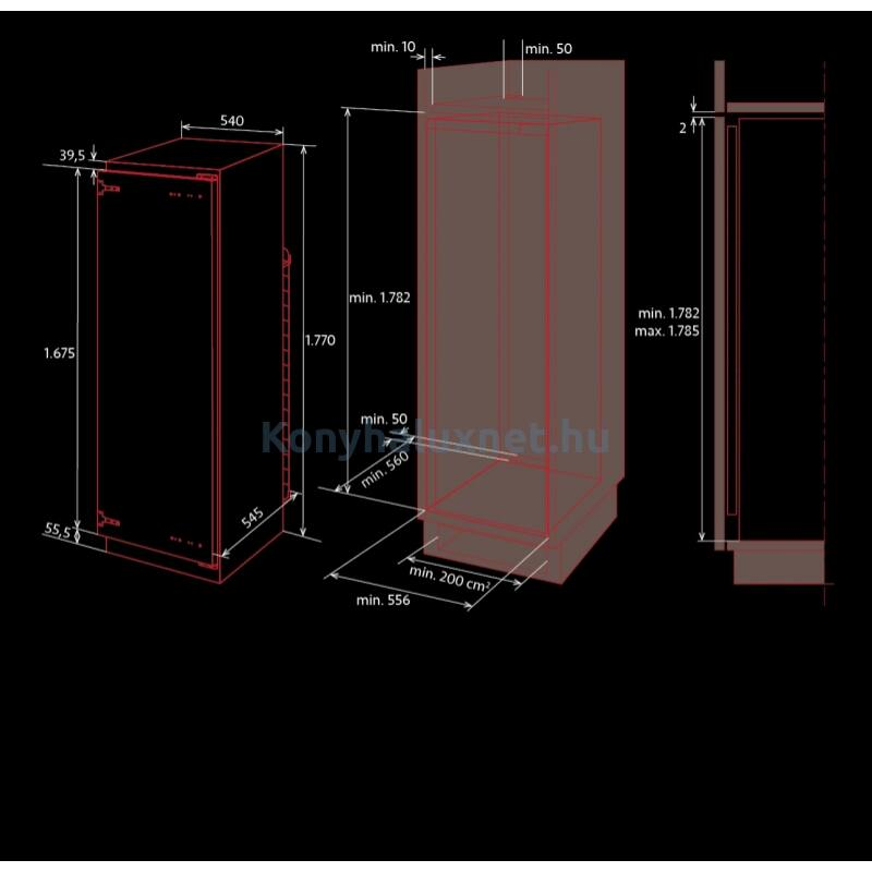 NODOR NORFROST TUNDRA TNF-177 BI beépíthető hűtőszekrény