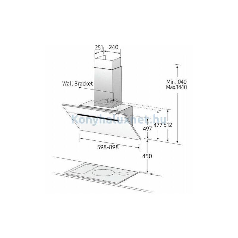 Samsung NK24M7070VB/UR Páraelszívó Fekete