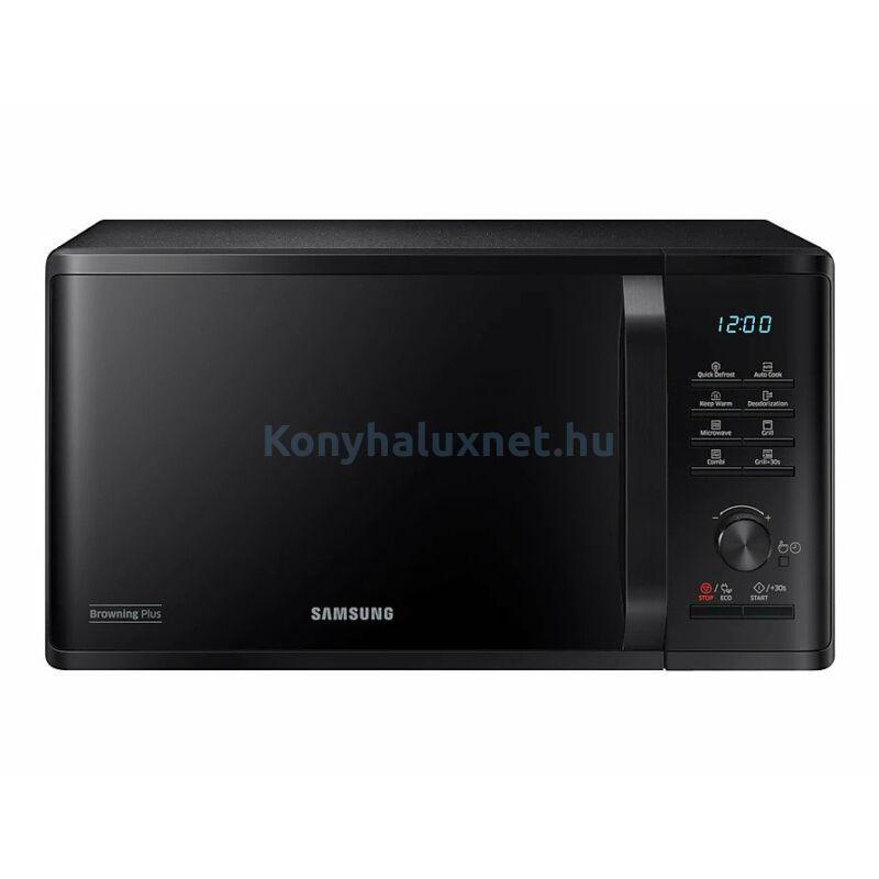 Samsung MG23K3515AK/EO grilles szabadonálló mikrohullámú sütő fekete 23L