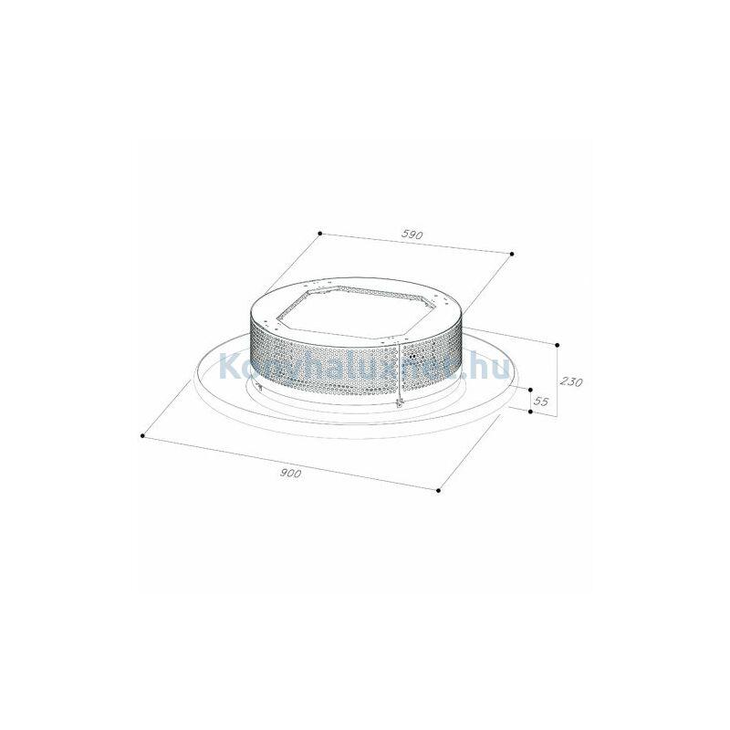 SIRIUS SLT 962 EM fehér Mennyezetbe építhető páraelszívó