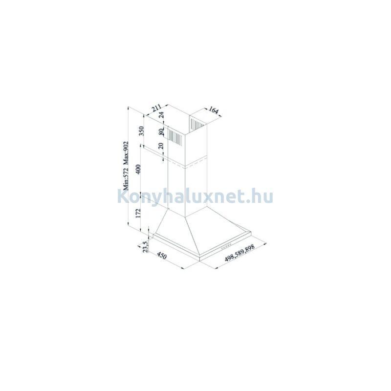 Silverline 2240 Inox 60 cm Kürtős páraelszívó