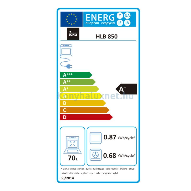 HLB 850 SS Inox beépíthető sütő turbó funkcióval