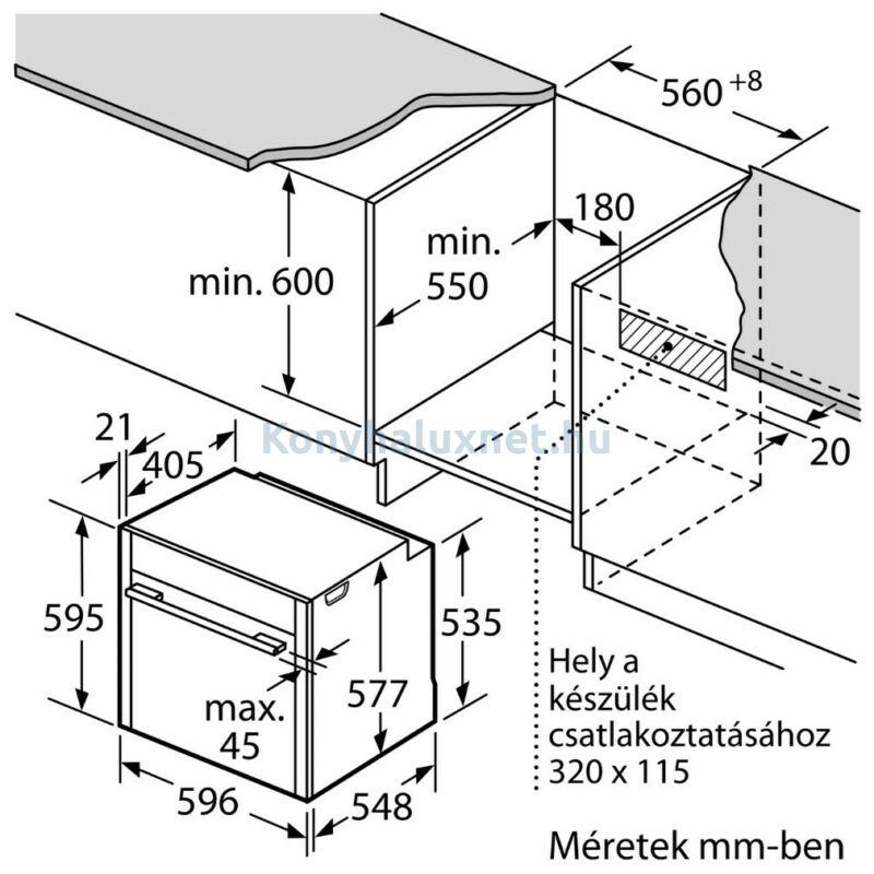 """Neff B45CS24N0 beépíthető sütő Slide & Hide ajtó 4,5"""" TFT kijelző EcoClean hátfal"""