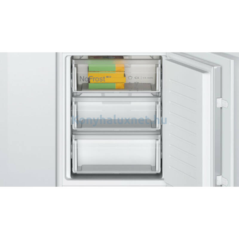 Bosch KIN865SF0 alulfagyasztós beépíthető NoFrost hűtő 178cm Seie2