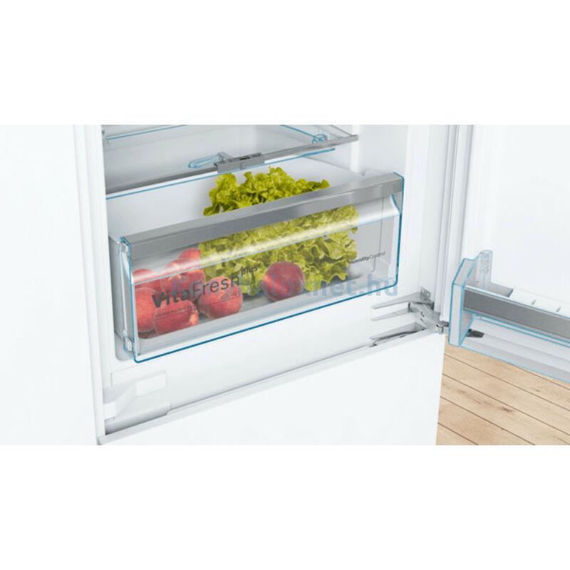 Bosch KIN86AFF0 beépíthető alulfagyasztós hűtőszekrény NoFrost VitaFresh kétkörös Serie6