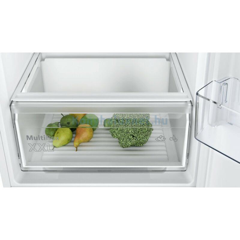 Bosch KIN86NFF0 alulfagyasztós beépíthető NoFrost hűtő 178cm laposzsanér Seie2
