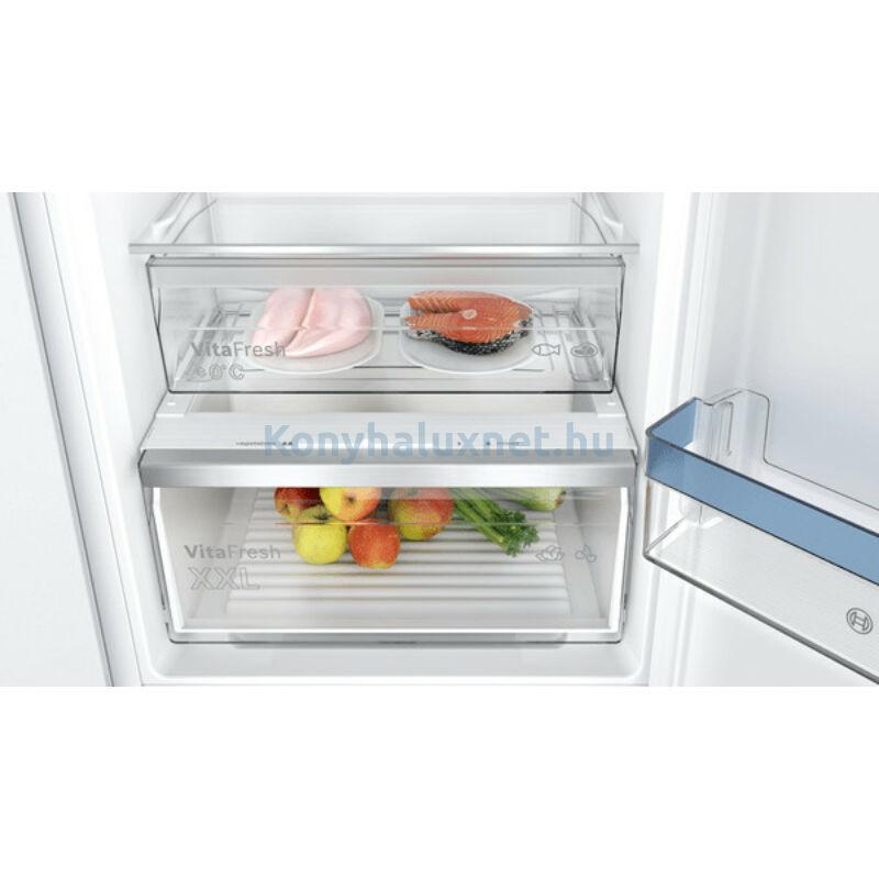 Bosch KIN86VSE0 beépíthető alulfagyasztós hűtő NoFrost VitaFresh 178cm