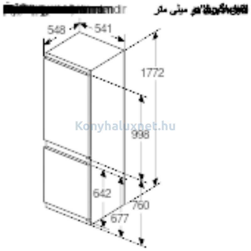 Bosch KIV865SF0 beépíthető alulfagyasztós hűtőszekrény 182/83L