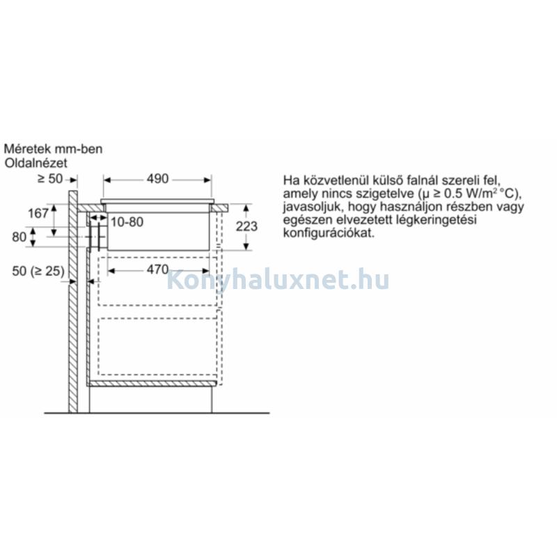 Bosch PIE611B15E indukciós főzőlap páraelszívóval Serie4