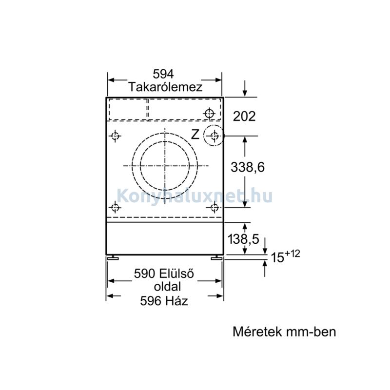 Bosch WIW28541EU beépíthető mosógép 8kg 1400f/p Serie8