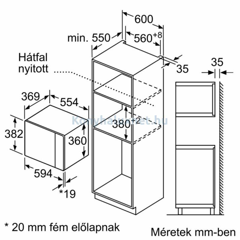 Bosch BEL554MS0 beépíthető mikrohullámú sütő, grilles