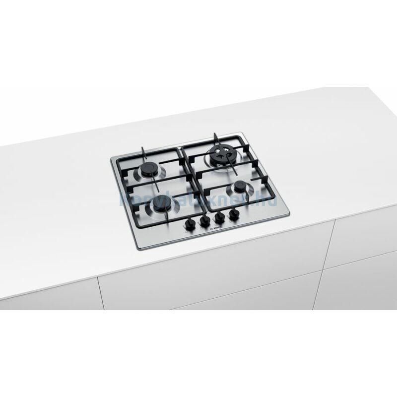 Bosch PGH6B5B60 beépíthető gázfőzőlap nemesacél