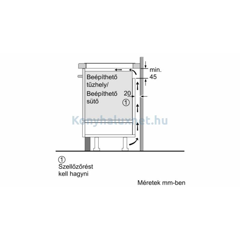 Bosch PIF675FC1E beépíthető indukciós főzőlap Serie6