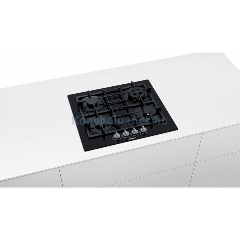 Bosch PNH6B6B90 beépíthető gázfőzőlap üveglapon
