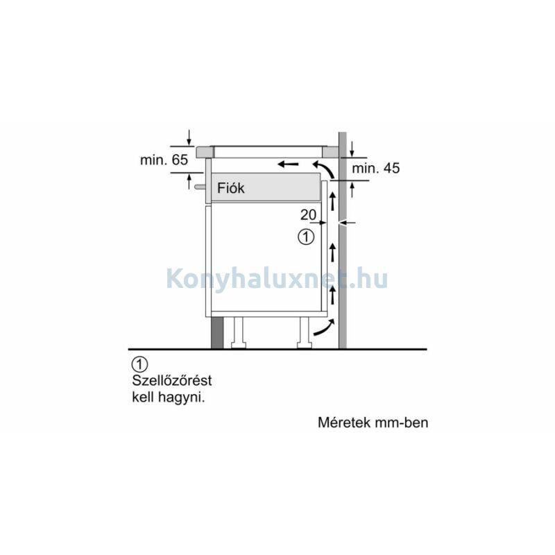 Bosch PXE651FC1E beépíthető indukciós főzőlap Serie6