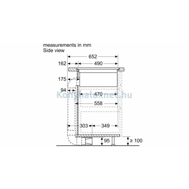 Bosch beépíthető indukciós főzőlap páraelszívóval