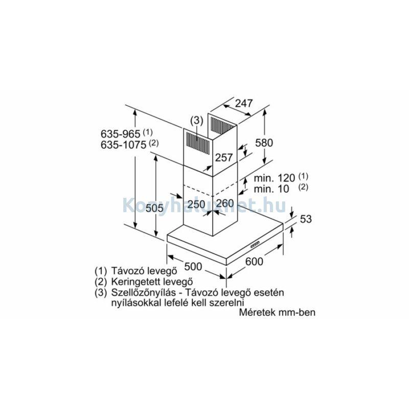 BOSCH DWB64BC50 Falra szerelhető páraelszívó