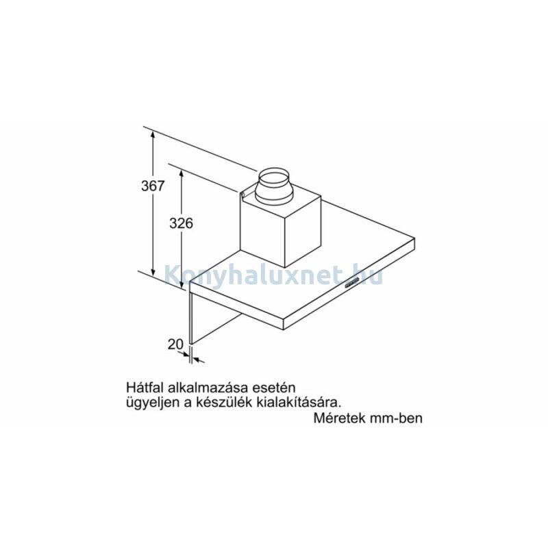 BOSCH DWB67IM50 Falra szerelhető páraelszívó