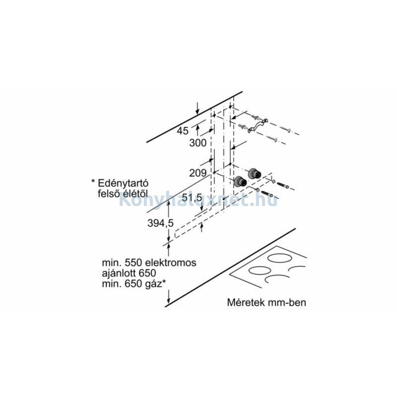BOSCH DWB97CM50 Falra szerelhető páraelszívó