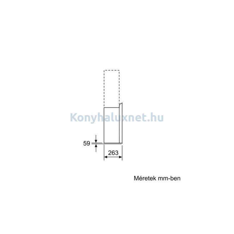 BOSCH DWF97RV60 Falra szerelhető páraelszívó