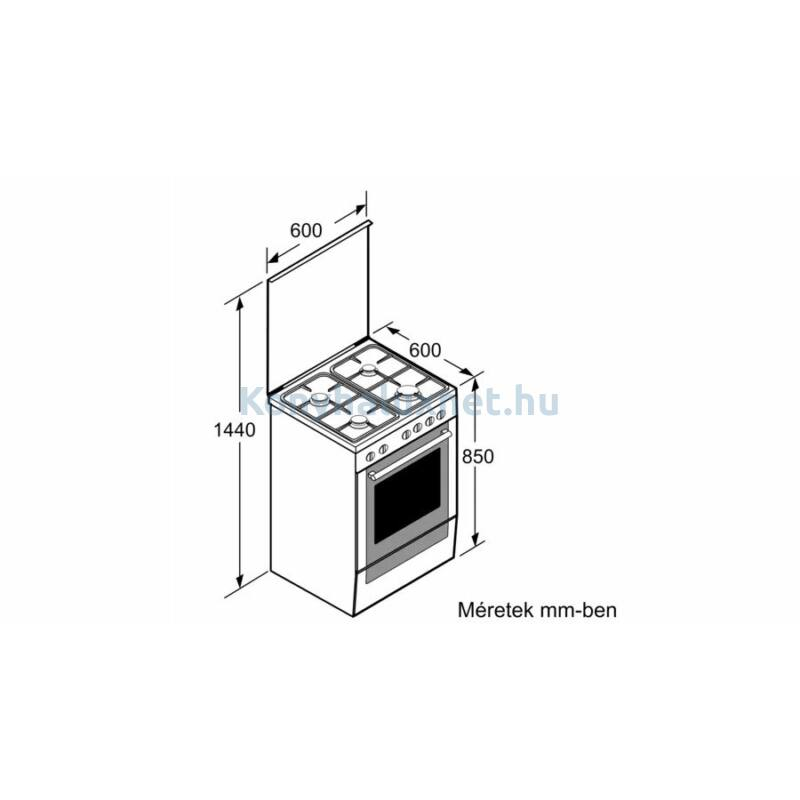 Bosch HXA090D50 szabadonálló kombinált tűzhely