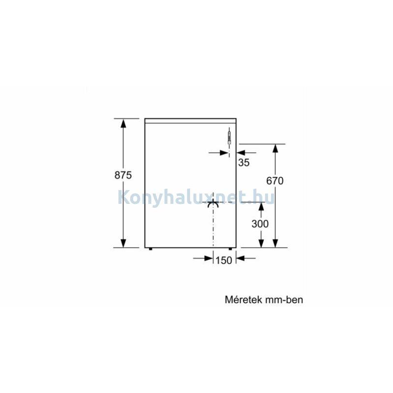 Bosch HXN390D20 szabadonálló kombinált gáztűzhely