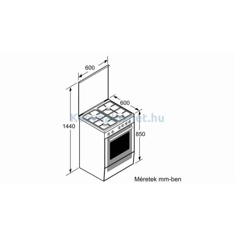 Bosch HXS59BD50 szabadonálló kombinált tűzhely