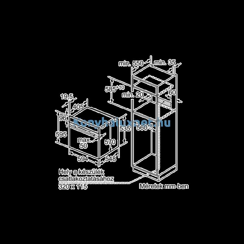 Bosch HBA573EB0 Beépíthető Elektromos Sütő
