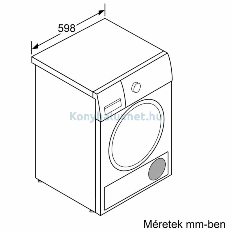 Bosch WTR85T00BY hőszivattyús kondenzációs szárítógép